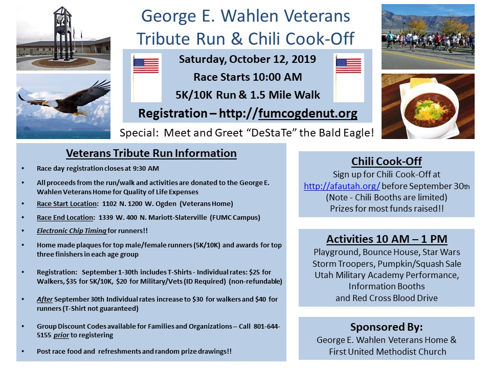 2019 Veterans Run & Chili Cook-off